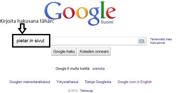 google muilla kielillä
