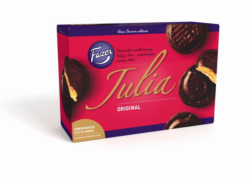 Julia Original JPG Rakastetut Fazerin makeiset Julia ja Suffeli nyt kekseinä