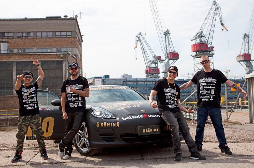 rahina Gumball 3000 keräsi maailmantähdet Suomeen