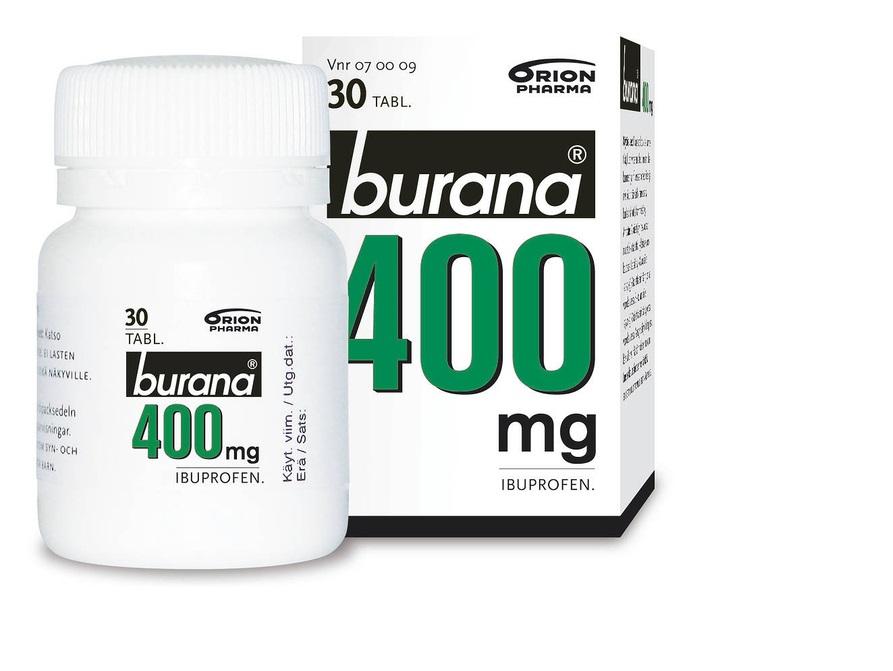 Burana400mg Prk paketti 20935  p Orion vetää myynnistä jättierän Buranaa