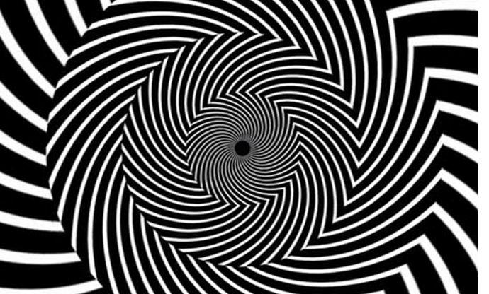 spiraali Raju optinen harha sekoittaa näkökykysi hetkeksi