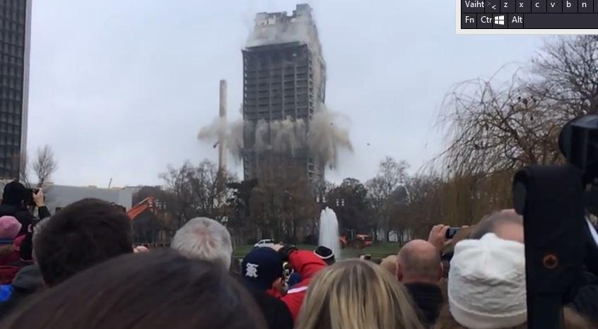 rajaytys6 116 metrinen pilvenpiirtäjä tuhottiin räjäyttämällä