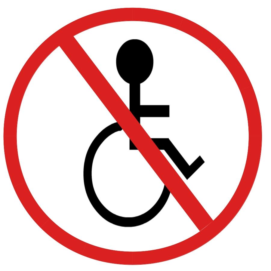 no disabled sign Kaupan pyörätuolikielto johti syrjintätuomioon