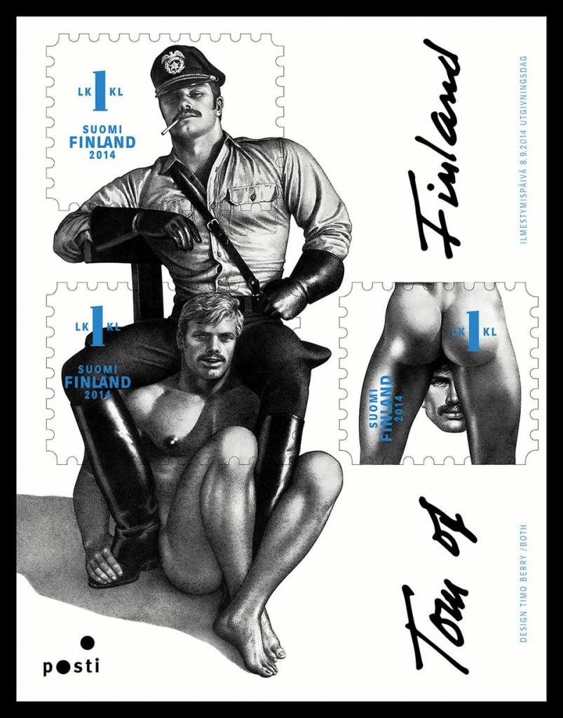Tom+of+Finland+postimerkki+arkki+Touko+Laaksonen 803x1024 Nyt nousee kohu   Posti tuo homoerotiikan postimerkkiarkille