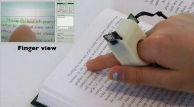 fingerreader wearable text reading device 2 640x354 Sormilukija lukee sokeille kirjoja ääneen