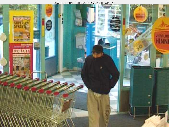 sisään+4 Valintatalo ryöstettiin   Oletko nähnyt tätä miestä?