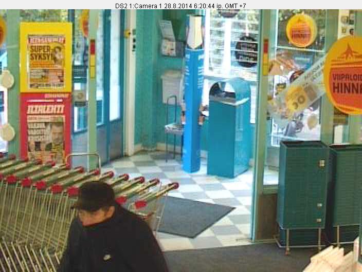 sisään+5 Valintatalo ryöstettiin   Oletko nähnyt tätä miestä?