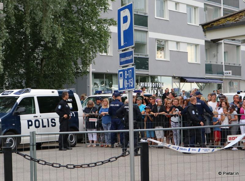 IMG 1081 Poliisi kiittää asukkaita   Kuvia Putinin vierailusta